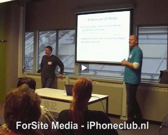 Joeke-Remkus de Vries en Jean-Paul Horn, presentatie WordCamp NL
