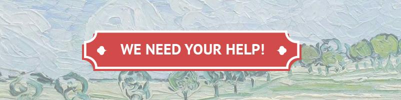 We hebben je hulp nodig!
